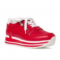 Marco Tozzi Womens Red Chunky Sneakers