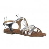 Tamaris Womens Silver Flat Sandals