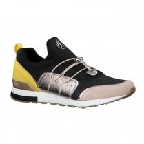 S.Oliver Womens Soft Foam Sneakers Shoes - Black Yellow