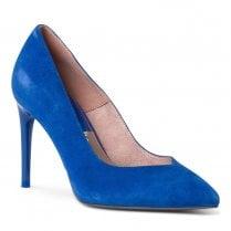 Tamaris Womens Nubuck Slip On Court High Heels - Royal Blue