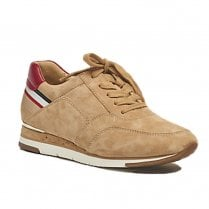 Gabor Womens Beige Suede Sneakers Shoes - 43.430
