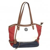 Rieker H1066-80 Medium Handbag - Red/Navy/White