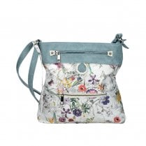 Rieker H1302-90 Medium Handbag - Ice Blue Multi