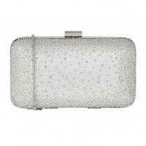 Lotus Diamante Lule Silver Clutch Bag