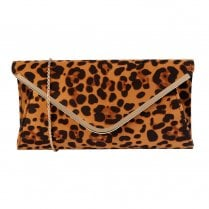Lotus Sommerton Leopard Brown Microfibre Occasion Bag