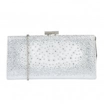 Lotus Chandra Diamante Silver Occasion Bag