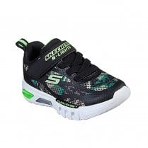 Skechers Infant Lights Flex-Glow Rondler Camouflage Print Mesh Sneakers