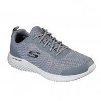 Skechers Mens Bounder Voltis Grey Textured Mesh Sneakers