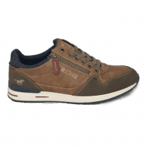 Mustang Mens Tan/Denim Sneakers - 4154-304-333