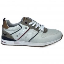 Mustang Mens Off White Sneakers - 4154-303-203