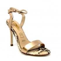 Glamour Womens Rose Gold Stiletto Heels - Blossom