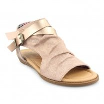 Blowfish Womens Balla Open Toe Ankle Sandals - Rose Gold