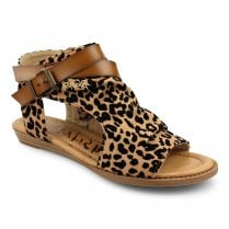 Blowfish Womens Balla Open Toe Ankle Sandals - Brown Leopard