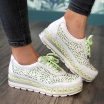 Jose Saenz White/Lime Laced Shoe