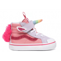 Vans Kids TD Unicorn SK8-Hi Reissue 138V White Lime Pink Sneakers