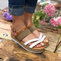 Escape White Flatform Sandal