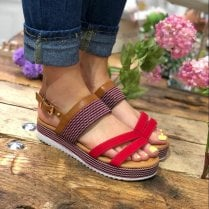 Escape Red Flatform Sandal