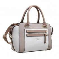 Bessie London Womens Khaki Medium Three Tone Tote Bag - BW4323