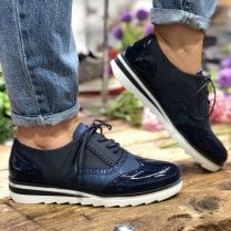 Redz Womens Navy Casual Sole Brogues