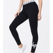 Hype Womens Black Taped Leggings