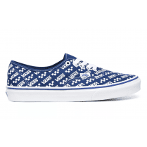Vans Classics UA Authentic Logo Repeat True Blue and White Sneakers