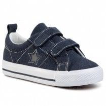 Kids XTI Unisex Velcro Sneaker - Navy