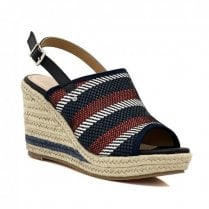 Escape Marfa Navy Mix Wedged Sandal