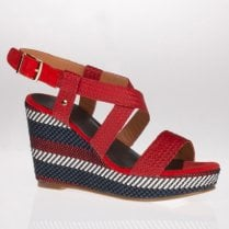 Escape Rocheport Red Mix Wedged Sandal