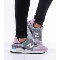 New Balance Womens 997 Sport Lace Up Sneakers - Grey/Pink