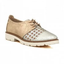 Zanni & Co Mystic Brogue Shoes - Rose Gold