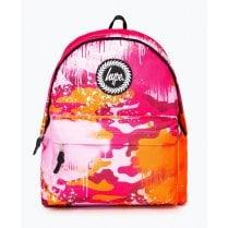 Hype Drips Orange Camo School Bag 18 litres Backpack