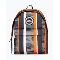 Hype Orange Stripe Camo Backpack 18 litres