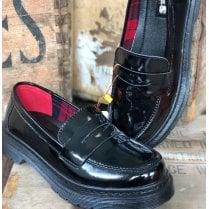 TEDS Girls School Shoe - Black Leather