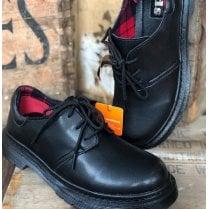 TEDS Lace Up Girls School Shoe - Black