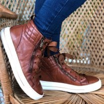 Ara Ladies Tan Trainer Boots