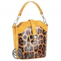 Remonte Ladies Small Yellow Leopard Print Shoulder Handbag