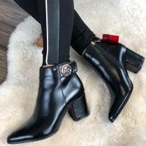 Kate Appleby Spilsby Black Snake Ankle Boots