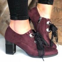 Susst Ladies Bowie Burgandy Lace Up Shoe Boot