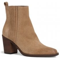 Tamaris Ladies Taupe Suede Ankle Boots