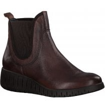 Marco Tozzi Womens Cafe Wedged Ankle Boots