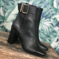 Tommy Hilfiger Square Toe Block Heel Boots