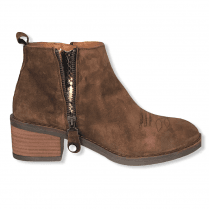 Alpe Womens Brown Suede Ankle Boots