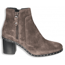 Alpe Womens Grey Suede Studded Ankle Boots
