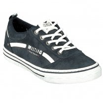 Mustang Ladies Navy Suedette Lace Up Trainer