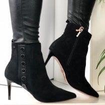 Una Healy Ladies Lonesome Cowboy Black Stilhetto Heeled Boots