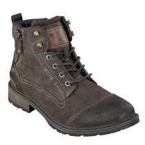 Mustang Mens Dark Brown Lace Up Ankle Boots