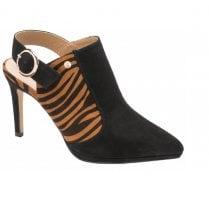 Ravel Bayamo Black and Tan Zebra Print Heels