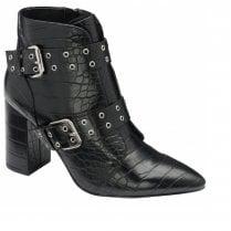 Ravel Gerona Croc Print Ankle Boot