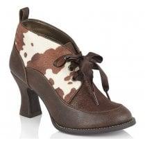 Ruby Shoo Emma Brown Pony Print High Heel Shoe-09349