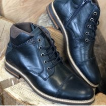 Lloyd & Pryce Mens Clarkson Storm Navy Lace Up Ankle Boots